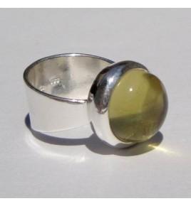 Bague argent quartz lemon