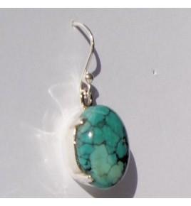 Boucles d'oreilles argent et turquoise BO431