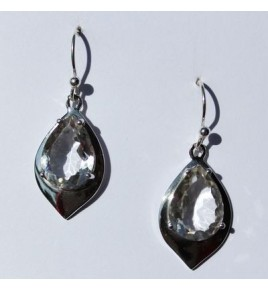 Boucles d'oreilles argent et cristal de roche BO450