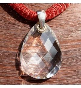 Pendentif argent et cristal de roche