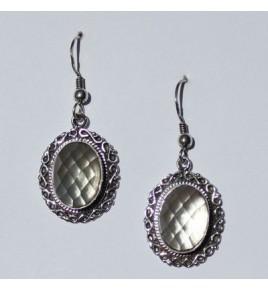 Boucles d'oreilles argent et cristal de roche BO452