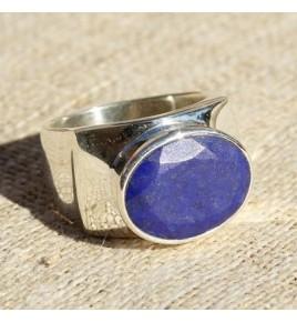 Bague argent et lapis lazuli T 60 - R649