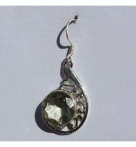 Boucles d'oreilles argent et prasiolite BO489