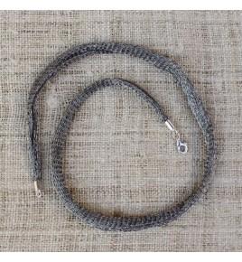 Cordon nylon et gris argent