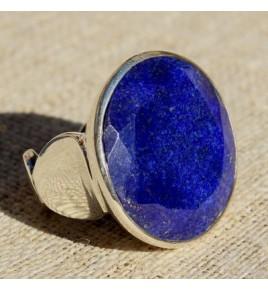 Bague argent et lapis lazuli T 56 - R652