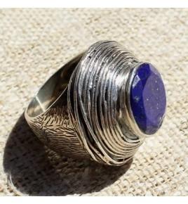 Bague argent et lapis lazuli T 55 - R680