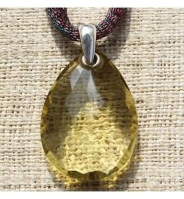 Pendentif argent et quartz lemon