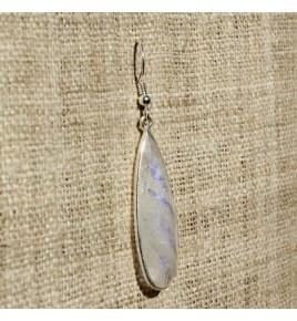 Boucles d'oreilles argent et pierre de lune BO543