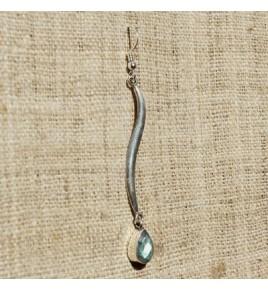 Boucles d'oreilles argent et labradorite BO524