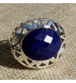 Bague argent et lapis lazuli T 56 - R686