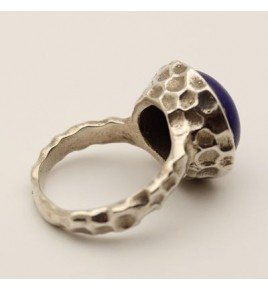 Bague argent et lapis lazuli T 57 - R695