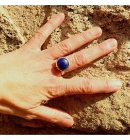 Bague argent 925 et lapis lazuli