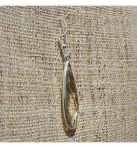 Boucles d'oreilles argent et quartz lemon BO557
