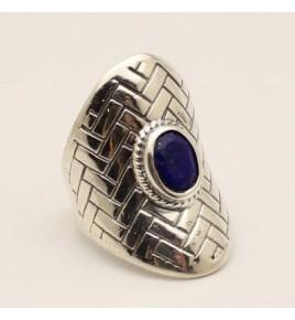Bague argent et lapis lazuli T 53,5- R766