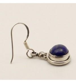 Boucles d'oreilles argent et lapis lazuli BO617