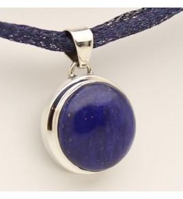 Pendentif argent et lapis lazuli PTF745