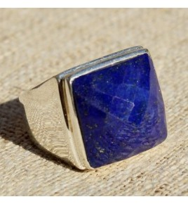 Bague argent et lapis lazuli T 59 - R651