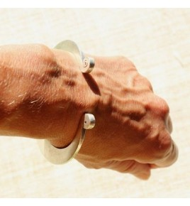 Bracelet jonc argent