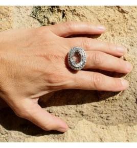 Bague argent et cristal de roche