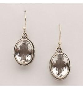 Boucles d'oreilles argent et cristal de roche