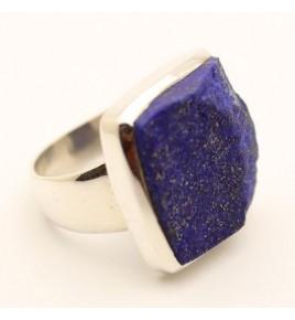 Bague argent et lapis lazuli BRUT T 55 - R790