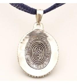 pendentif argent 925 lapis lazuli et corail