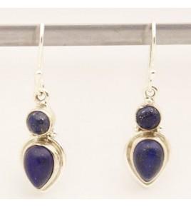Boucles d'oreilles argent et lapis lazuli BO631