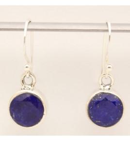 Boucles d'oreilles argent et lapis lazuli BO628
