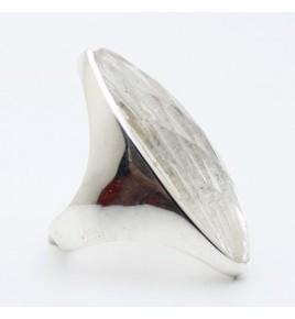 Bague argent et cristal de roche T 61 - R872