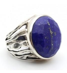 Bague argent et lapis lazuli T 56 - R864