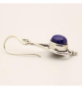 Boucles d'oreilles argent et lapis lazuli BO630
