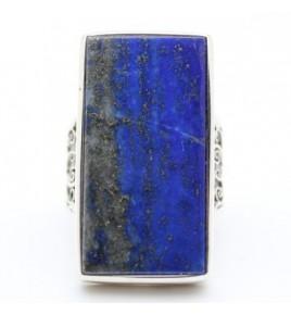 Bague argent et lapis lazuli T 57 - R888