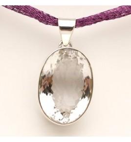 pendentif argent 925 et cristal de roche