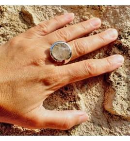 bague argent 925 et quartz rutile